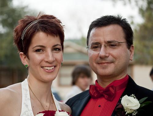 Sarah and Alexander Panchul after their wedding, 2008