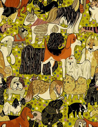 Polka-dogs pattern!