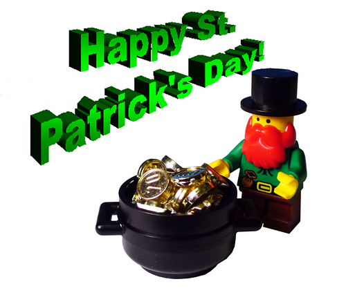 St Patrick's Day custom minifig
