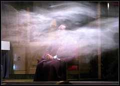 A little heavy on the incense, Father (lorainedicerbo) Tags: church catholic purple michigan smoke father detroit priest harper pastor incense whittier stmatthew stmatthewcatholicchurch fatherduanenovelly