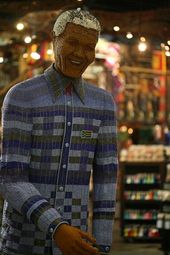 7 foot Mandela in beads