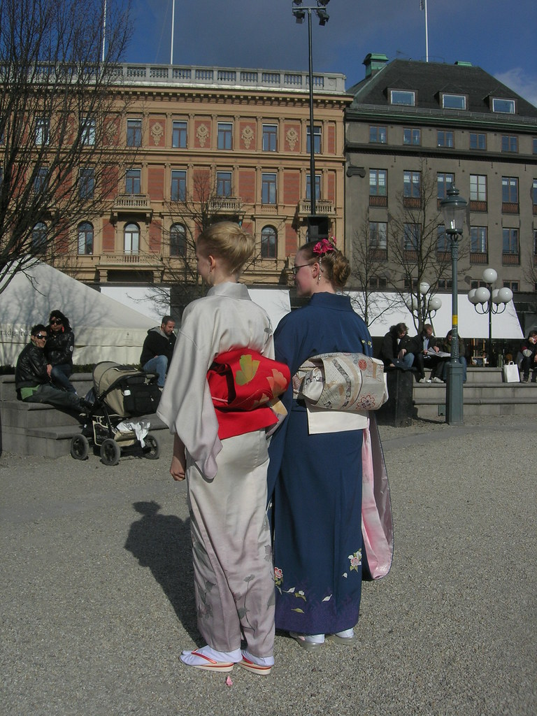 Geishas at the Cherry Blossom Fest in Kungstradgarden, Stockholm 2010