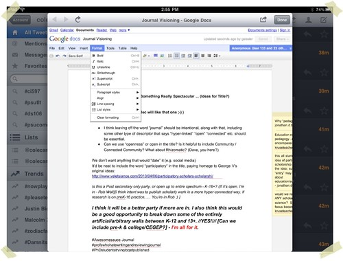 Editing Document with the iPad