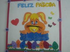 Mural de Pscoa (vaca festeira) Tags: mural eva pscoa coelho lembrancinha