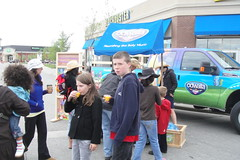 McKenzie Towne Stampede Breakfast on High Street - Odwalla Juice