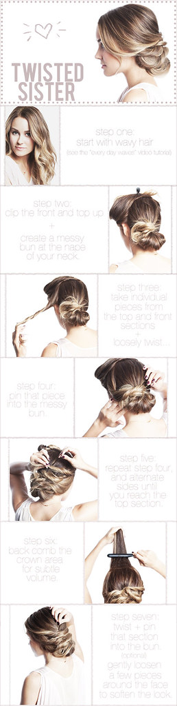 Hair How To: Twisted Updo