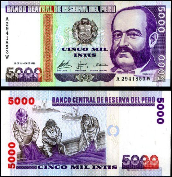 5000 Intis Peru 1988, Pick 137