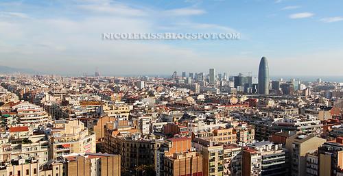 barcelona city view from sagrada familia