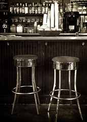 27.365 (Two Black Dogs.) Tags: sepia lexington kentucky coffeeshop monotone 365 stools commongrounds canon7d
