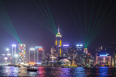 Hong Kong city skyline at night over Victoria Harbor (ake1150sb) Tags: china city travel light sea sky urban panorama reflection building tower water beautiful skyline architecture modern night skyscraper port landscape asian hongkong evening bay harbor town office twilight colorful asia downtown cityscape view harbour famous chinese landmark scene victoria hong kong clear metropolis tall