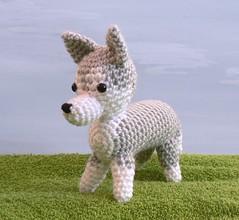 crocheted husky