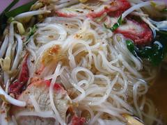 Noodles and pork