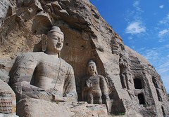 Cave 20 (NowJustNic) Tags: china sky cliff cloud stone nikon buddha buddhism carving explore  shanxi yungang  d80 yunganggrottoes nikkor18135mm
