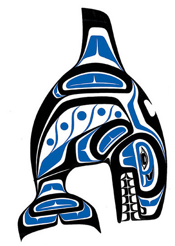 Haida Art - Whale. The artist is Paul Windsor. He is a Haisla,