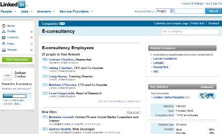 E-consultancy LinkedIn profile