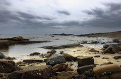 Cloud, Sea & Sand (David Hannah) Tags: sea seashells scotland sand rocks fife shore seacape waterpools