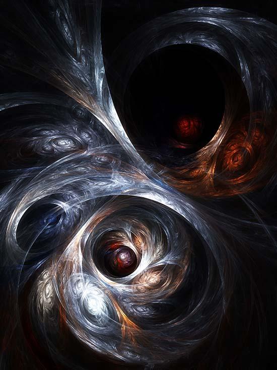 Fractal Art - Spiral Clusters by Nicholas M Vivian