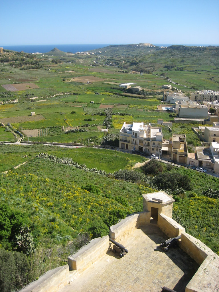 Gozo view from the citadel
