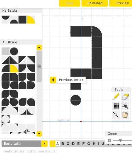 Fontstruct | Para crear online tu propia tipografía ceslava 1