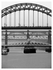 Newcaslte bridges b&w2 (Manuel.A.69) Tags: uk bridge newcastle google flickr tyne appert manuelappert