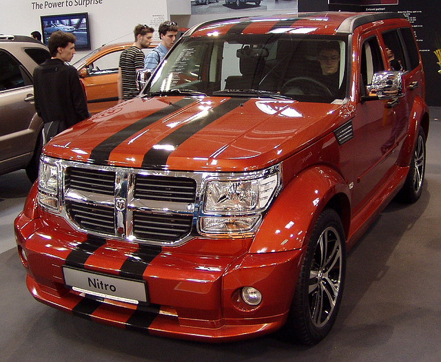 show car metallic chrome dodge nitro 2008 bratislava worldcars