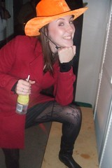 2008_0511rabbit0009 (caro_randall) Tags: friends party orange rabbit drunk fun cowboyhat burgerphone
