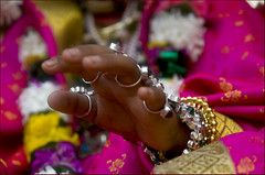 The blessing hand (Elishams) Tags: india kid hand indian traditional culture varanasi sita benares northindia uttarpradesh ramnagar ramlila indedunord svarup colorphotoaward