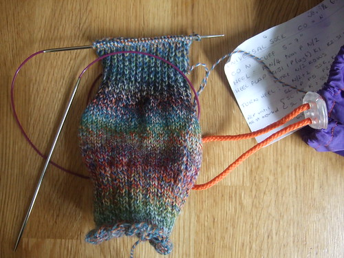 colourful sock wih notes