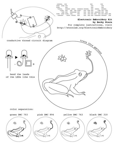 Electronic Embroidery instruction sheet