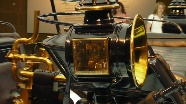 gas light of the 1886 Benz - Patent Motorwagen , motorized carriage