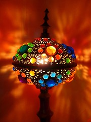 My lamp (B@rbar@ (Barbara Palmisano)) Tags: blue light orange house color verde green lamp colors casa colore blu colori luce turkish lampada arancione naturesfinest mywinners diamondclassphotographer flickrdiamond coloursplosion artedellafoto