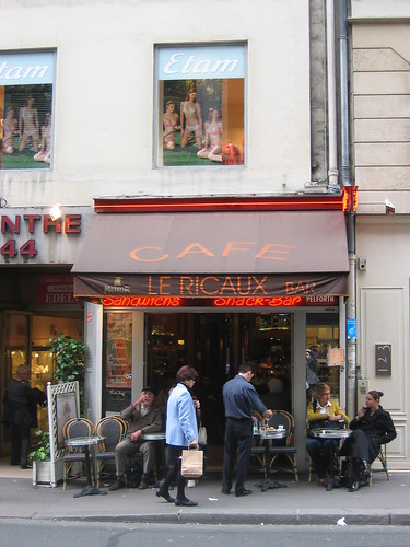 cafe le ricaux, paris