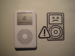 sad iPod & sad iPod (benjibot) Tags: apple crossstitch ipod sad crafts