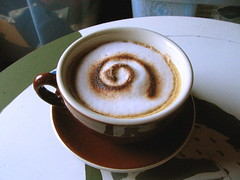 Curly cappuccino