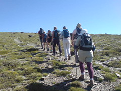 Single file up Mulhacen