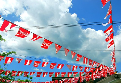 Coca-cola Flags in Dagupan City