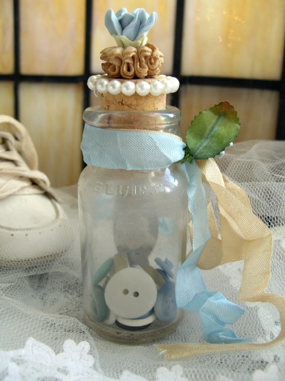 Little Boy Blue Altered Bottle