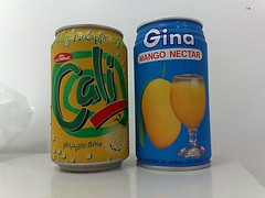 Cali Sparkling Pineapple Drink and Gina Mango Nectar