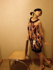 None (Sarahography) Tags: girl asian chair dancing antique room small barefoot tall pigtails shoeless