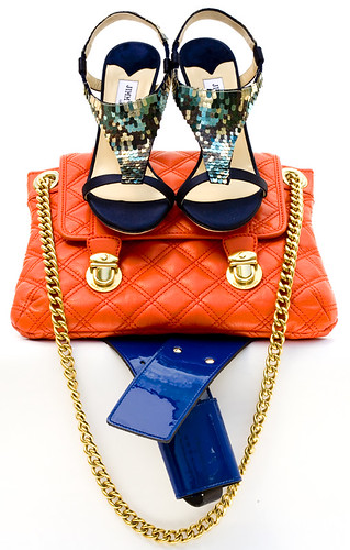 """JIMMY CHOO HEELS, MARC JACOBS HANDBAG AND THEORY BELT"" by Carolina delRivero."