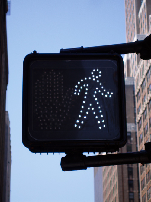 the little man, walk sign, Manhattan, NYC