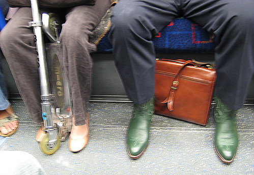 Piccadilly Line Tube Feet & Micro Scooter