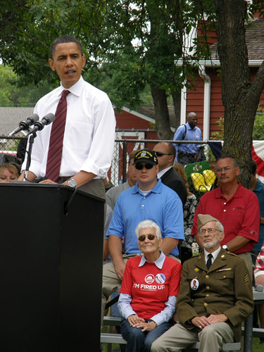 Sen. Barack Obama addresses veterans in Fargo, North Dakota (7/4/08)