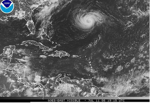 Bertha Visible Satellite 7-11
