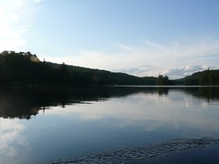 Oxtongue Lake from our canoe