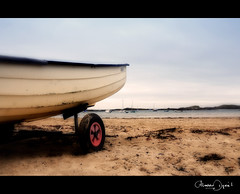 the boat (Maddie Digital) Tags: beach water wales bay boat sand harbour yacht cove anglesey northwales rhosniegr
