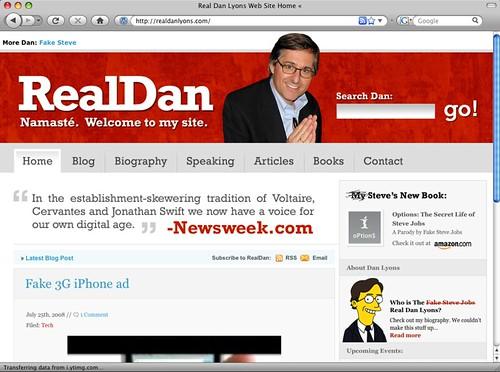RealDanLyons Web Site