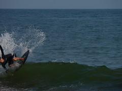 "The ""young ojisan"" pulling an epic backside flair (Jason Collin) Tags: japan skimboarding hiratsuka"