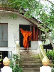P1010748 (sansphotographie) Tags: orange temple monk laos luangprabang