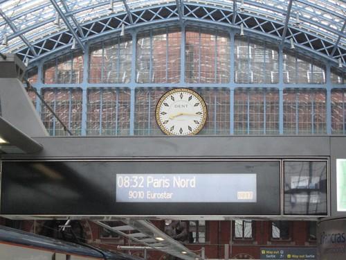 Eurostar's St Pancras International - Clock